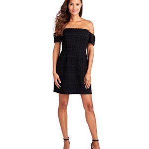 Vineyard Vines Black Off Shoulder Jacquard Dress 2